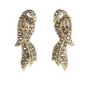 Alexis Bittar Crystal Encrusted Lovebird Earrings